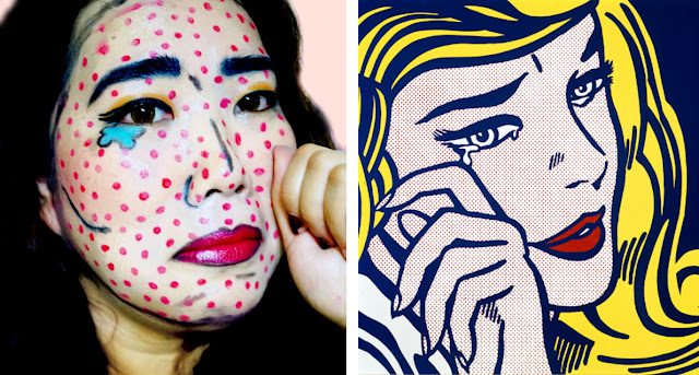 Pop Art Comic Book Makeup Look