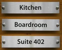 plat nama kantor, cafe, toko, ruangan dari stainless dan