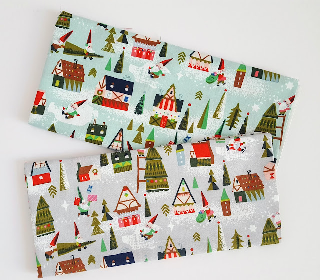 Way up North fabric Houses Prints