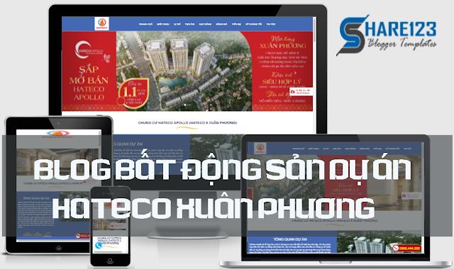 Template blogspot đẹp bất động sản Hateco Xuân Phương