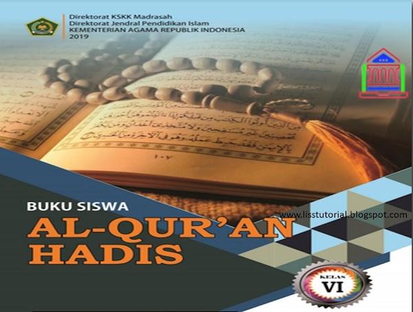 Download Buku Al-Qur'an Hadis Kelas 6 MI Kurikulum 2013 Edisi Revisi 2019