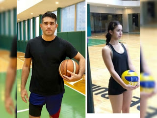 Gerald Anderson and Julia Barretto present sa practice ng All Star Game