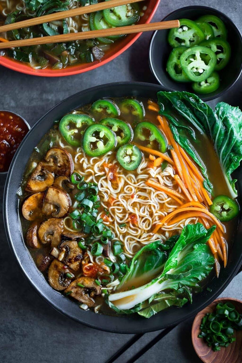 Mushroom Ramen Soup | Peas and Crayons