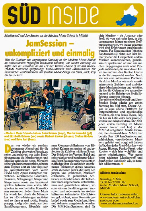 MODERN MUSIC SCHOOL - Glarnerland: Musikunterricht - modern und ...