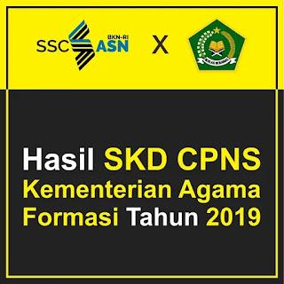 Hasil SKD CPNS Kementerian Agama Formasi Tahun 2019/2020 Logo - Free Download File PDF