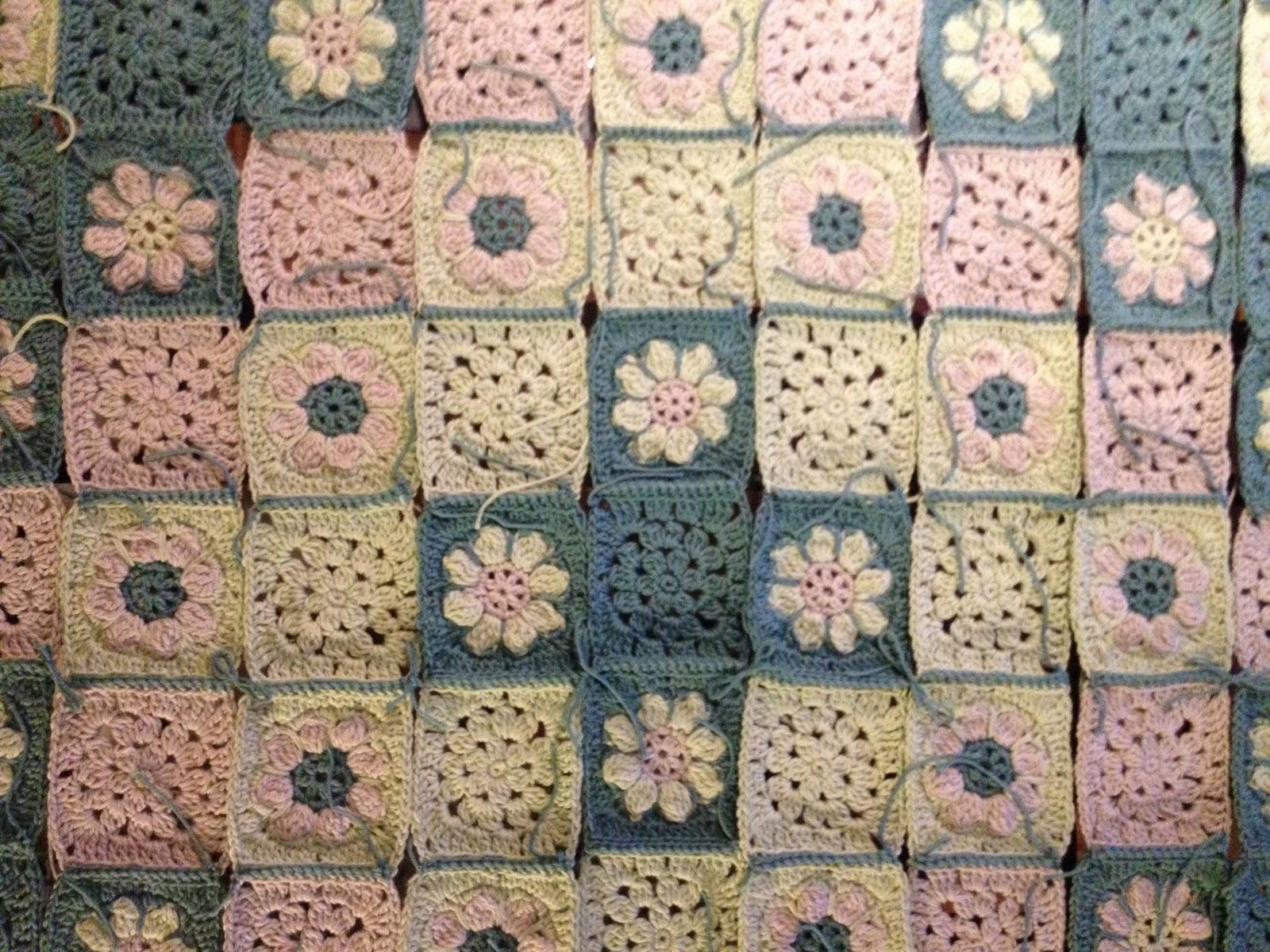 Margaretes Fortschritte Bei Der Granny Square Decke