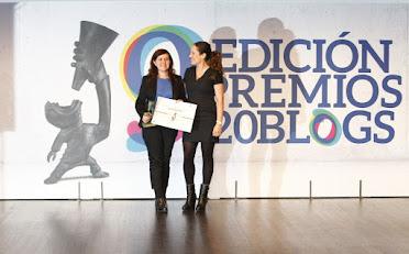 Ganadora IX edición Premios 20Blogs