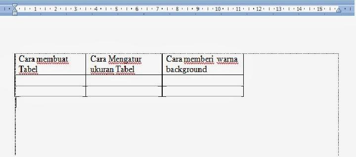 Gambar data tabel sebelum diatur