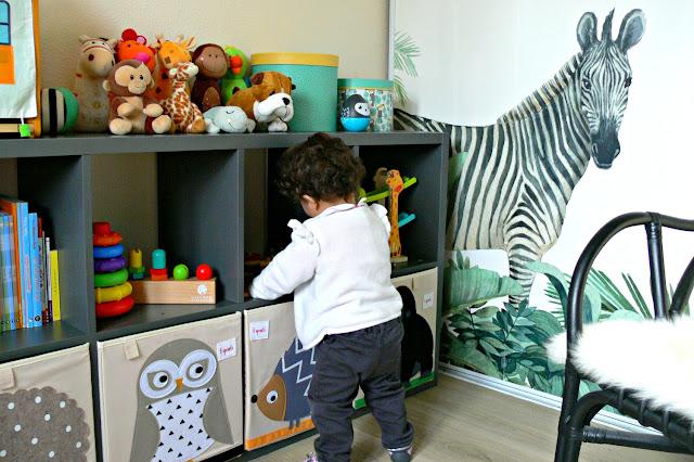 Decoración tropical habitación infantil
