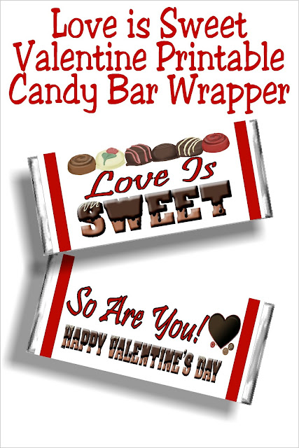 Share a little extra love with those around you using this printable Valentine candy bar wrapper.  Wrapper is perfect for sharing with your neighbors, your friends, your family, and those in your community who could use an extra little bit of love this year.