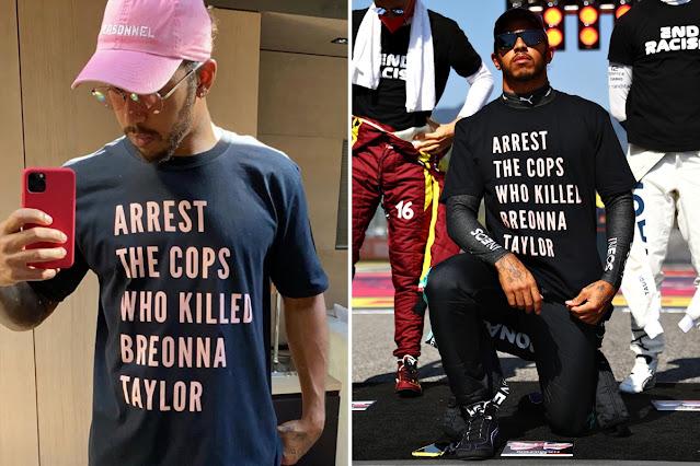 Lewis Hamilton 'Arrest The Cops Who Killed Breonna Taylor' shirts.  PYGear.com