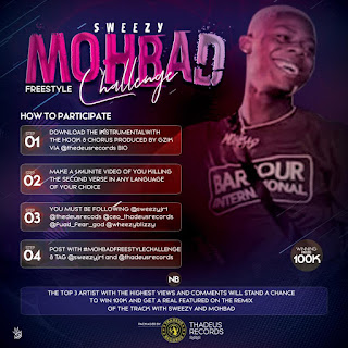 GX GOSSIP: Thadeus Records Annouces A New Challenge Tagged Sweezy #MOHBADFREESTYLECHALLENGE