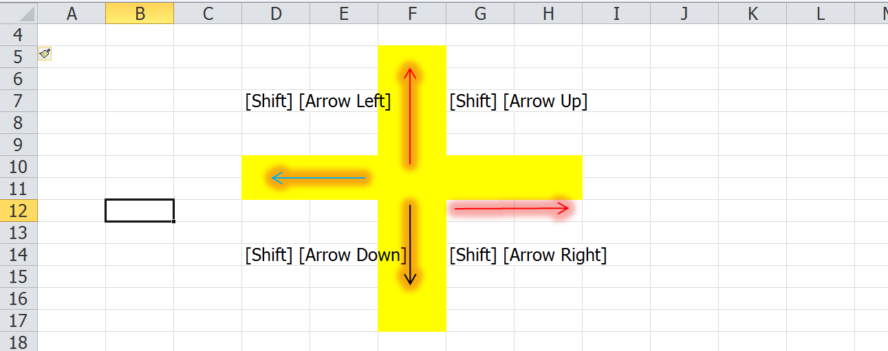 Arrow keys in excel