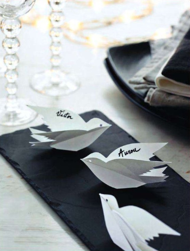 diy table decoration labels crafts and decor. Black Bedroom Furniture Sets. Home Design Ideas