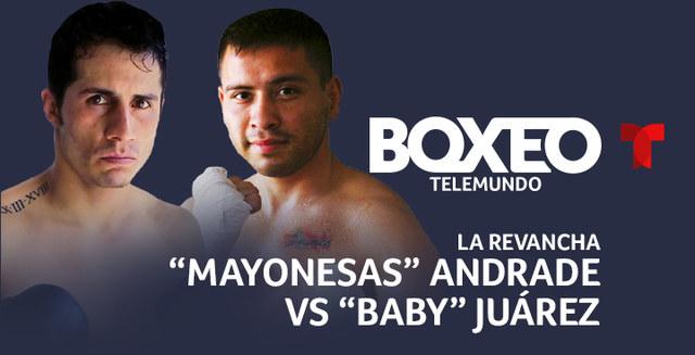 "Saul ""Baby"" Juarez vs. Mario Andrade poster"