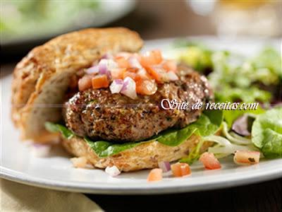 Hambúrguer com sabor de picanha