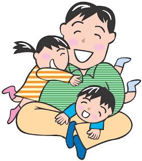 父親と娘と息子