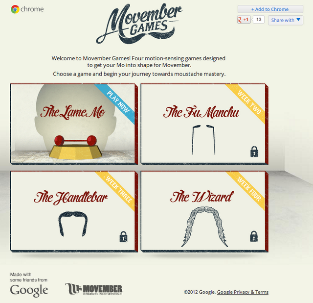 Screenshot van movember games