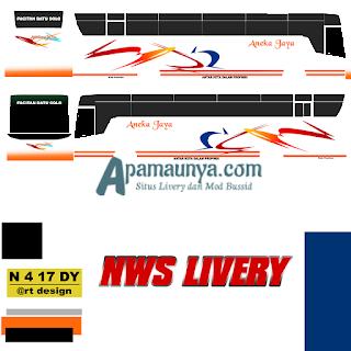 Livery bus titanium trisakti aneka jaya
