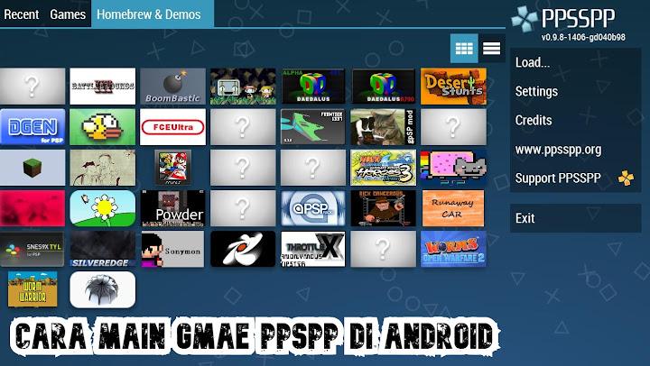 Cara Main Game PPSPP di Android