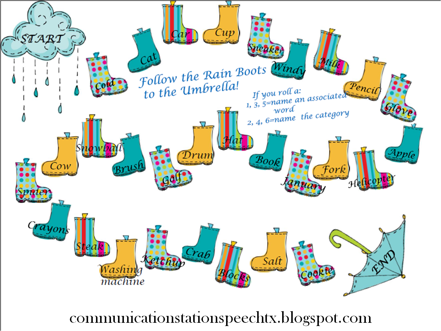 Freebie Friday Rainy Day Boot Match Up