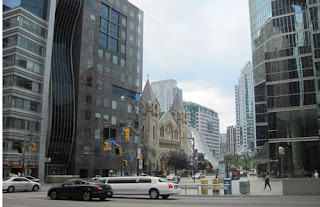 St Andrew's Between Roy Thomson Hall & Canadian Blood Services.