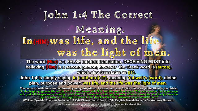 John 1-4 The Correct Meaning.