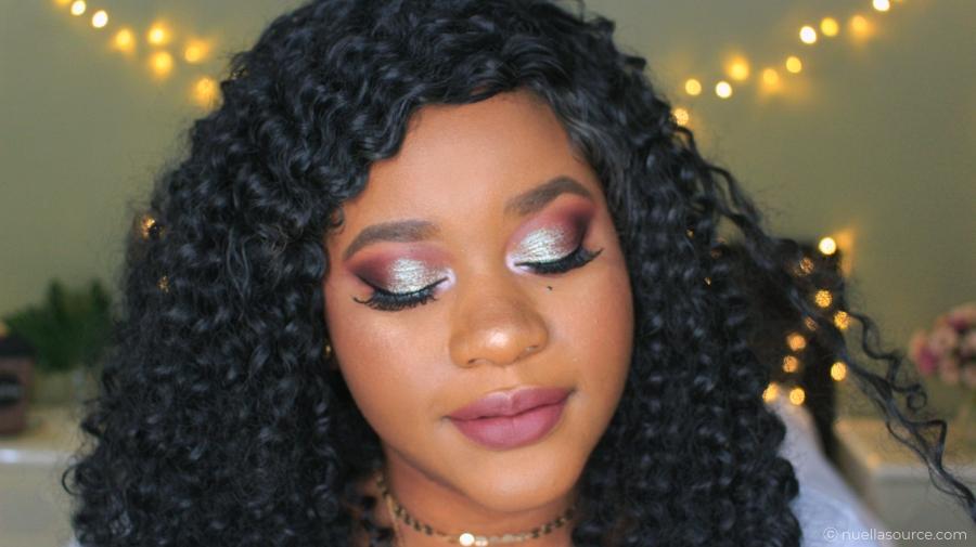 Maquillage réalisé avec palette bright lux loose pigment blue brown focallure