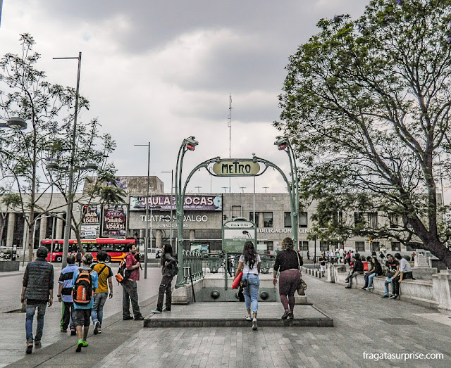 Estação de metrô Belle Époque francesa na Cidade do México