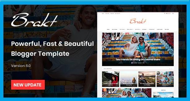 Brakt Premium Blogger template