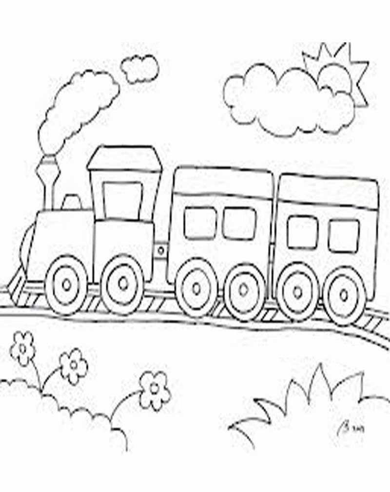 Mewarnai Kereta Api Mewarnai Kendaraan Auto Design Tech