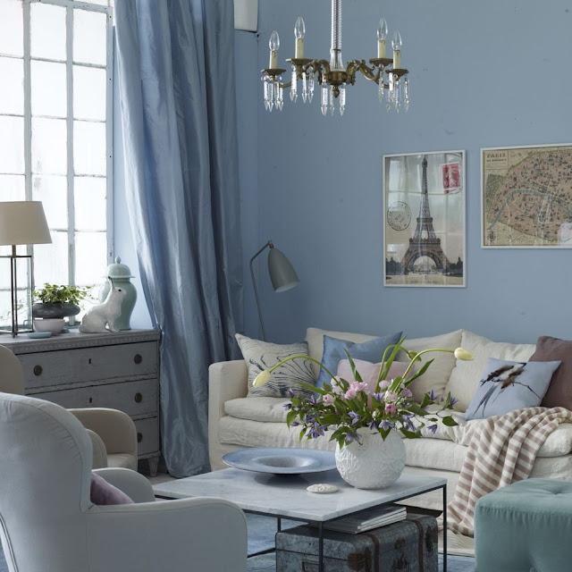 Ruang Tamu Warna Biru Tosca Terbaru