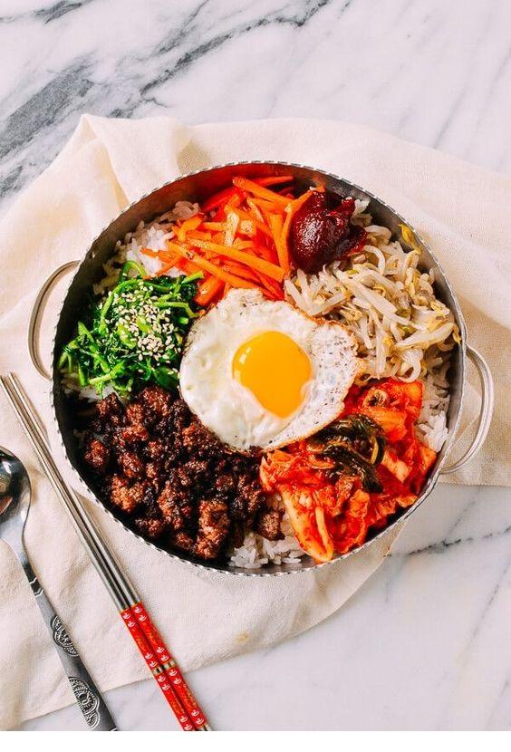 Easy Beef Korean Bibimbap Recipe