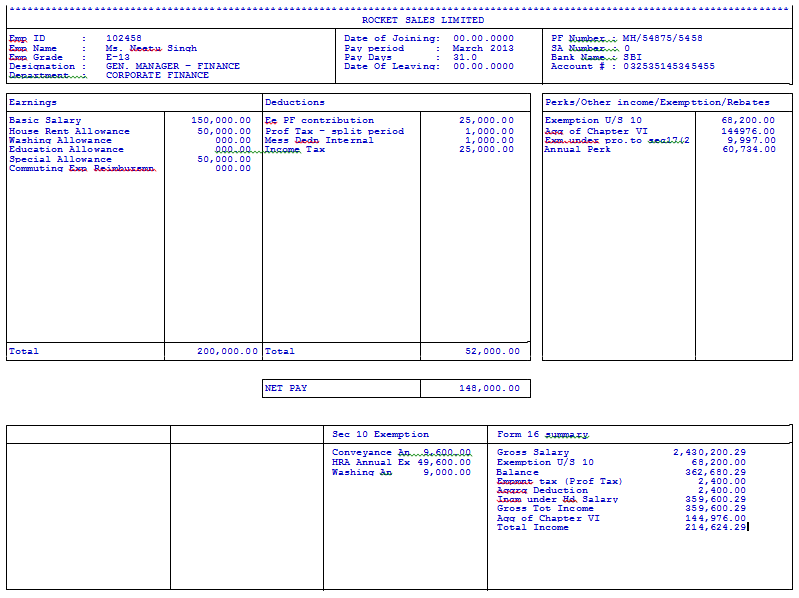 editable payslip template - salary slip format in word