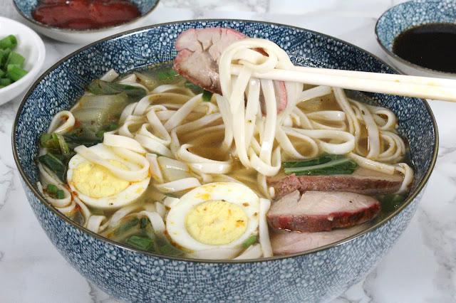 Roast Pork Yakamein Soup