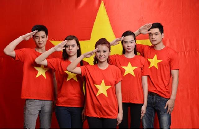 Địa chỉ may áo đồng phục cờ đỏ sao vàng ngon, bổ, rẻ