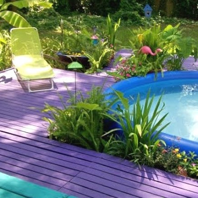 tropical yard design idea