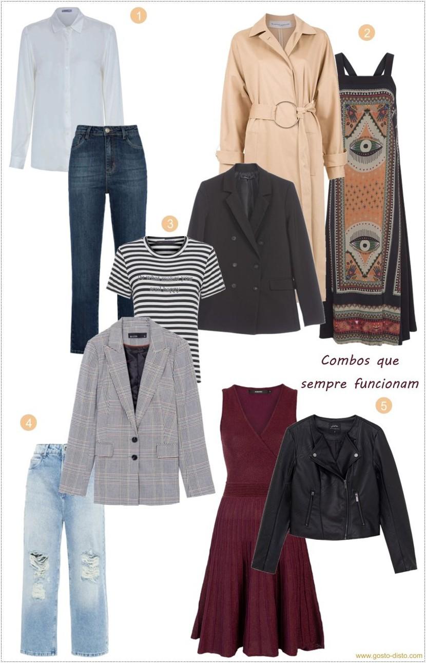 Combinações de roupas que sempre funcionam bem