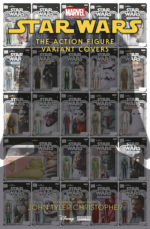 Cover of Star Wars Action Figures Variant Covers #1 showing multiple images of action figures in their boxes