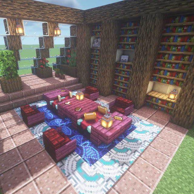 Minecraft library building design