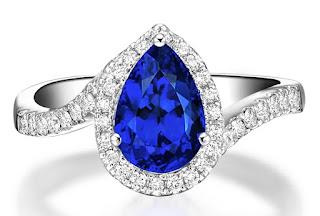 Nhẫn cưới đá xanh Sapphire