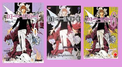 portadas del cómic manga de fantasía y suspense Death note 6