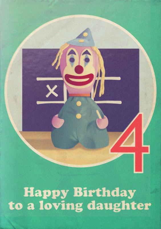 Scarfolk Council Possessed Birthday Cards 1978