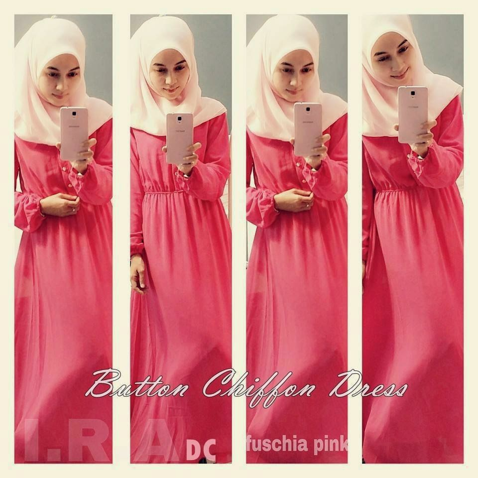 011dbacbef8d Dress Muslimah Cantik: BUTTON CHIFFON DRESS