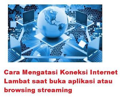 Internet sudah menjadi kebutuhan sehari hari Cara Mengatasi Koneksi Internet Lambat saat buka aplikasi atau browsing streaming