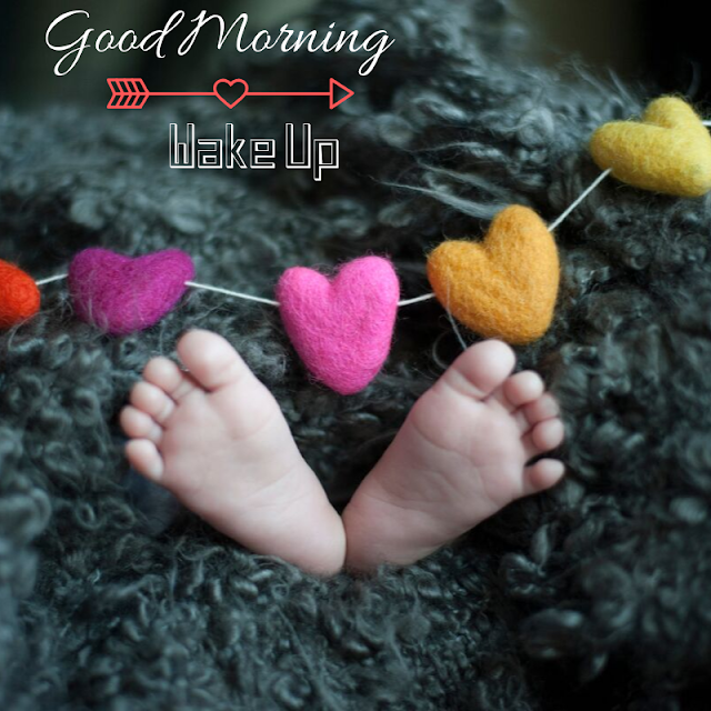 Love and Baby leg Good Morning Images