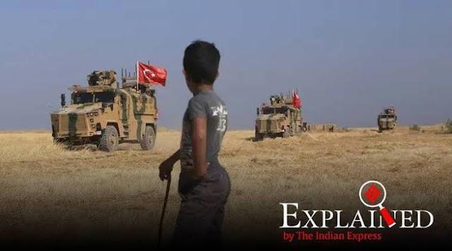 شام پر شدید بمباری کے بعد ترک افواج شمالی شام میں داخل