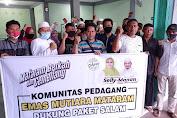 Dinilai Amanah Majukan Pedagang, Komunitas Pedagang Mutiara Siap Menangkan Selly-Manan