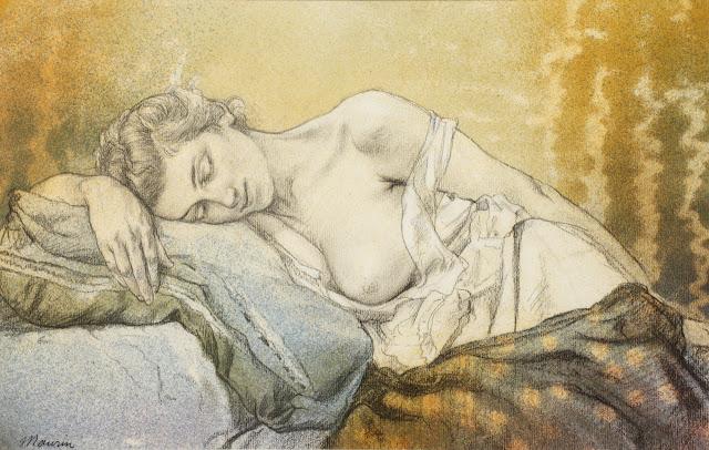 Charles Maurin - Woman Sleeping