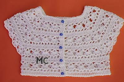 7 - Crochet Imagen Canesú blanco a crochet y ganchillo por Majovel Crochet